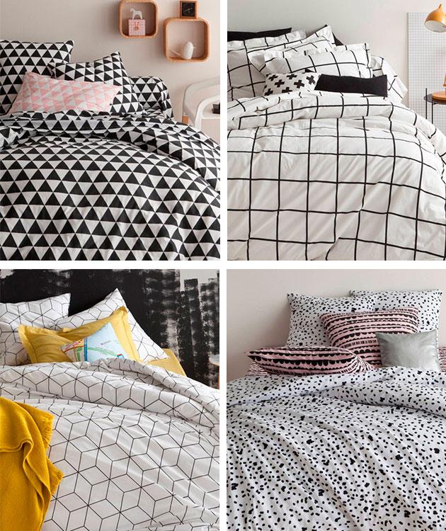 Dormitorios renovados: tendencia Black and White.