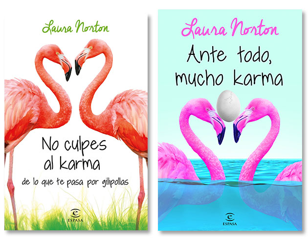 Las mejores novelas de comedia romántica: Serie Karma de Laura Norton.