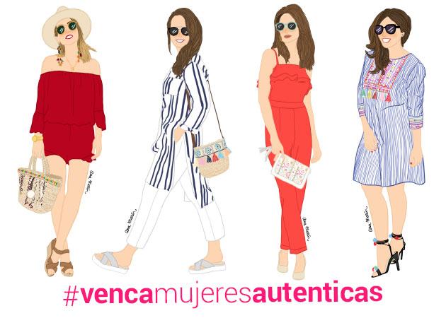 Participa en el sorteo #VencaMujeresAutenticas y gana un total look y una ilustración personalizada.
