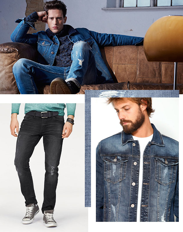 Denim store: man