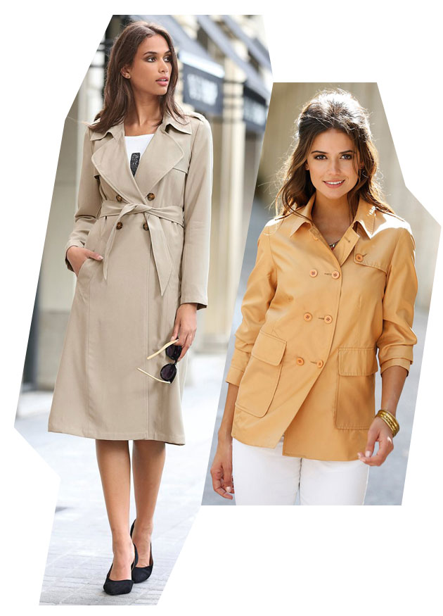 Looks modernos: trench